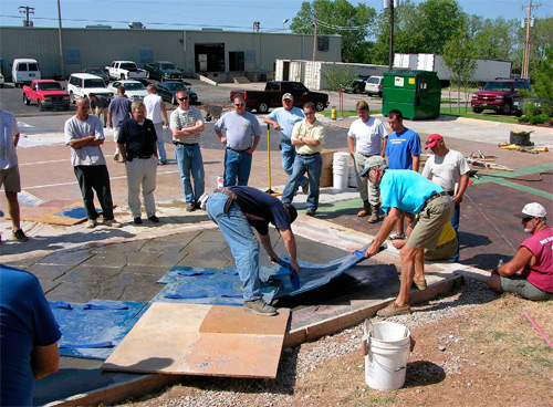 concrete decor reseller - suppliers endorse staff education